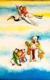 Chinesisches Wandgemälde Stockfotografie