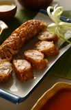 Chinesre cuisine - Spring roll Stock Photo