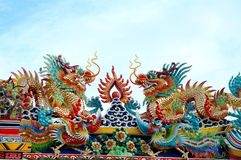 Chiness Dragon. In the Thailand Royalty Free Stock Photography