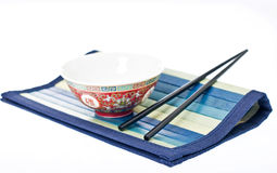 Chinesse bowl with chinese sticks Stock Photography