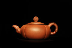 Chinesse brown clay teapot Royalty Free Stock Images