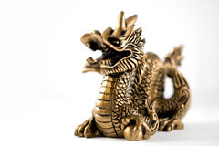 Chinesse dragon. On white background Royalty Free Stock Photo