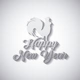 Chinesse happy new year design. Happy new year card with rooster icon over white background. colorful design. illustration royalty free illustration