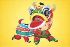 Chinesse lejon Arkivfoton