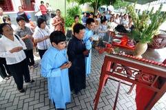 Ching Bing-ritueel stock afbeeldingen