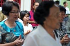 Ching Bing-ritueel stock foto's