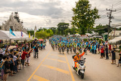 CHING RAI,THAILAND, AUG 16-2015 : This event is prepared for Bike for mom event from Thailand. Bike for mom event show respected Royalty Free Stock Images