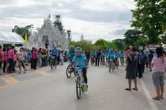 CHING RAI,THAILAND, AUG 16-2015 : This event is prepared for Bike for mom event from Thailand. Bike for mom Royalty Free Stock Images