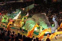 chingay 2011 ståtar singapore Fotografering för Bildbyråer