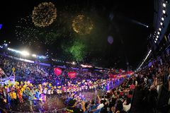 chingay 2012 ståtar singapore Arkivbild