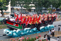 Chingay Floats going to our neighborhood - Serangoon Avenue 3 Stock Image