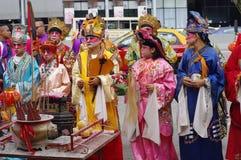 Chingay kines ståtar royaltyfria bilder