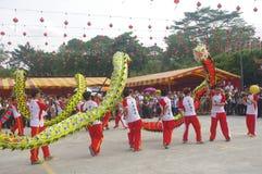 Chingay kines ståtar arkivbild