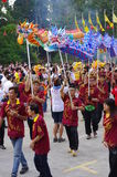 Chingay kines ståtar royaltyfri foto