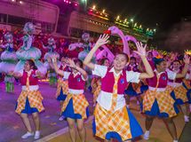 2018 Chingay parade. SINGAPORE - FEB 24 : Participants in the Chingay parade in Singapore on February 24 2018. The Chingay is an annual street parade and it is Stock Photography
