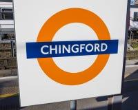 Chingford-Station in London lizenzfreie stockfotografie