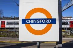 Chingford-Station in London lizenzfreie stockfotos