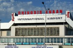 Chinggis khaan airport Stock Image