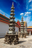 Chinise towers in Buddhist temple, Thailand Stock Image
