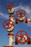 Chink. Against the sky.Mining operations.Extract oil and gas Stock Photography