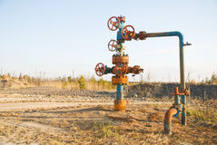 Chink. Oil well on a deposit Royalty Free Stock Photography