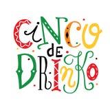 Chinko DE Drinko van letters voorziende illustratie vector illustratie
