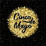 Cinco de Mayo sparkling phrase vector illustration