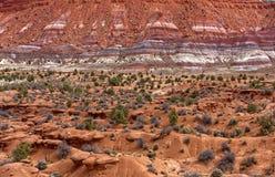 Chinle formacja blisko Paria Utah obraz stock