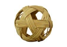 Chinlone, palla del rattan Fotografie Stock Libere da Diritti