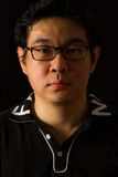 Chino asiático Guy Portrait Imagenes de archivo
