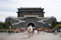 Chino asiático, Pekín, arquitectura antigua, Zhengyang Jianlou Imágenes de archivo libres de regalías
