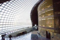 Chino asiático, Pekín, centro nacional para las artes interpretativas, arquitectura moderna Fotos de archivo
