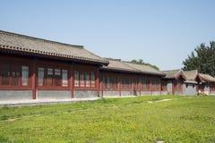 Chino asiático, Pekín, cuadrado del puente de Lugou, el edificio antiguo Imágenes de archivo libres de regalías