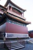 Chino asiático, Pekín, edificios históricos, Lama Temple Fotos de archivo libres de regalías