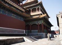 Chino asiático, Pekín, edificios históricos, Lama Temple Imagenes de archivo
