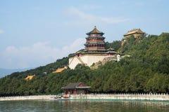 Chino asiático, Pekín, el palacio de verano, torre del incienso budista Fotografía de archivo libre de regalías