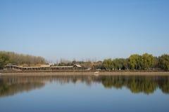 Chino asiático, Pekín, grande Canale Forest Park, paisaje del jardín Fotos de archivo