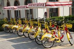 Chino asiático, Pekín, haciendo turismo, bicicleta Fotos de archivo