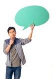 Chino con la burbuja del discurso Fotografía de archivo