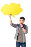 Chino con la burbuja del discurso Imagen de archivo libre de regalías