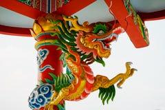 Chino concreto colorido Dragon Statue Foto de archivo libre de regalías
