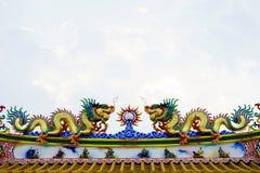 Chino concreto colorido Dragon Statue Fotografía de archivo