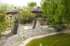 Chino de Asia, Pekín, China Minzu Yuan, arquitectura de paisaje, petroleros del agua Imágenes de archivo libres de regalías