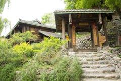 Chino de Asia, Pekín, China Minzu Yuan, imitador, puerta del pueblo, paso Foto de archivo