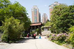 Chino de Asia, Pekín, China Minzu Yuan, paisaje arquitectónico, Fotos de archivo