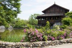 Chino de Asia, Pekín, China Minzu Yuan, paisaje arquitectónico, cabina Imagen de archivo libre de regalías