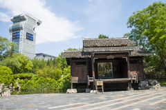 Chino de Asia, Pekín, China Minzu Yuan, paisaje arquitectónico, cabina Fotografía de archivo