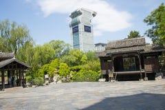 Chino de Asia, Pekín, China Minzu Yuan, paisaje arquitectónico, cabina Imagen de archivo