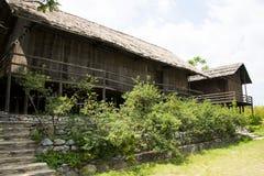 Chino de Asia, Pekín, China Minzu Yuan, paisaje arquitectónico, casa de madera Foto de archivo