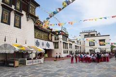 Chino de Asia, Pekín, China Minzu Yuan, paisaje arquitectónico, el templo de Jokhang Imagen de archivo libre de regalías